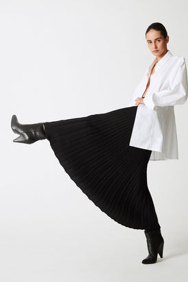 Esse Studios - The Knit Skirt, Black - Worn For Good