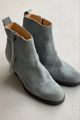 Acne Studios Blue Suede Ankle Boots