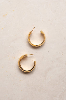 Flash Jewellery Hollow Hoops - Gold