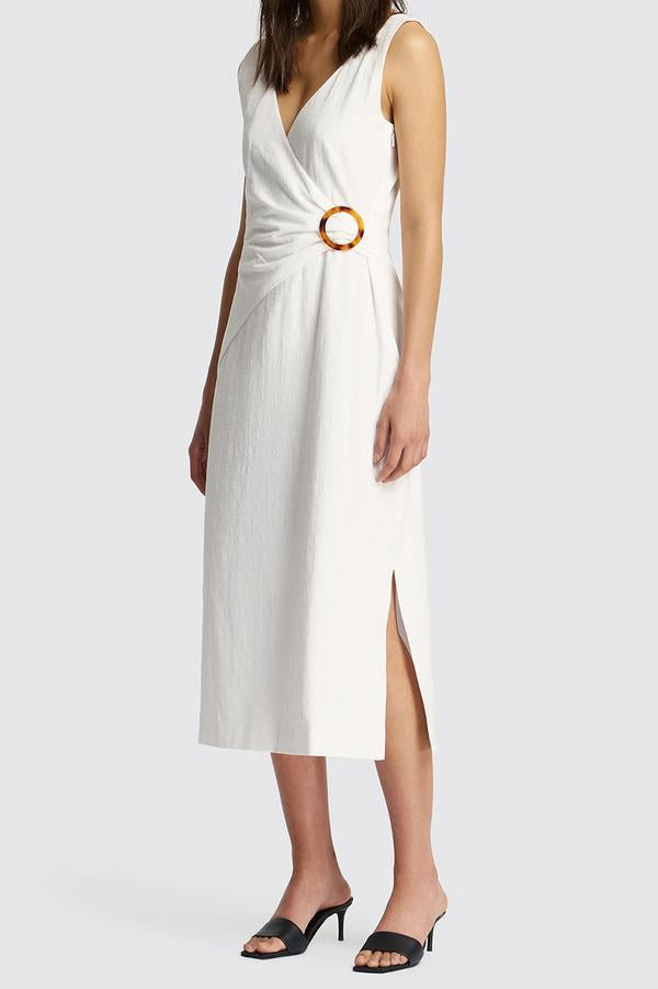 Friend of Audrey LyLy Linen Wrap Dress