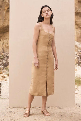 St Agni - Ghita Dress, Honey - Worn For Good