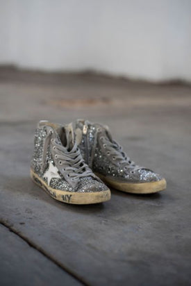 Golden Goose Francy Sequin High Top Sneakers