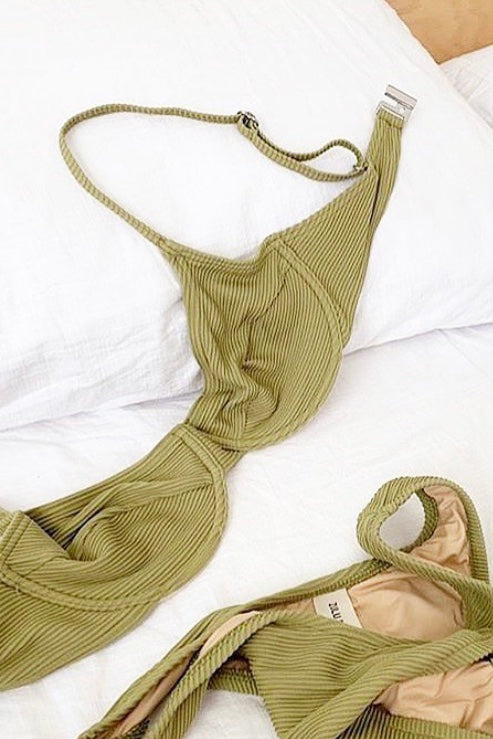 Zulu & Zephyr - Canopies Bikini Set, Fern Green - Worn For Good