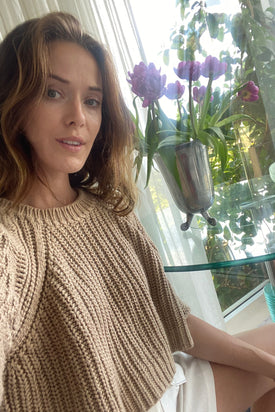 Chloe Soft Brown Knit Crop