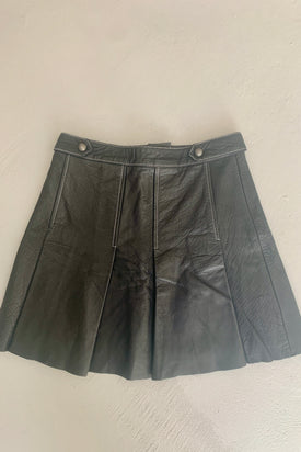 Aje leather mini skirt