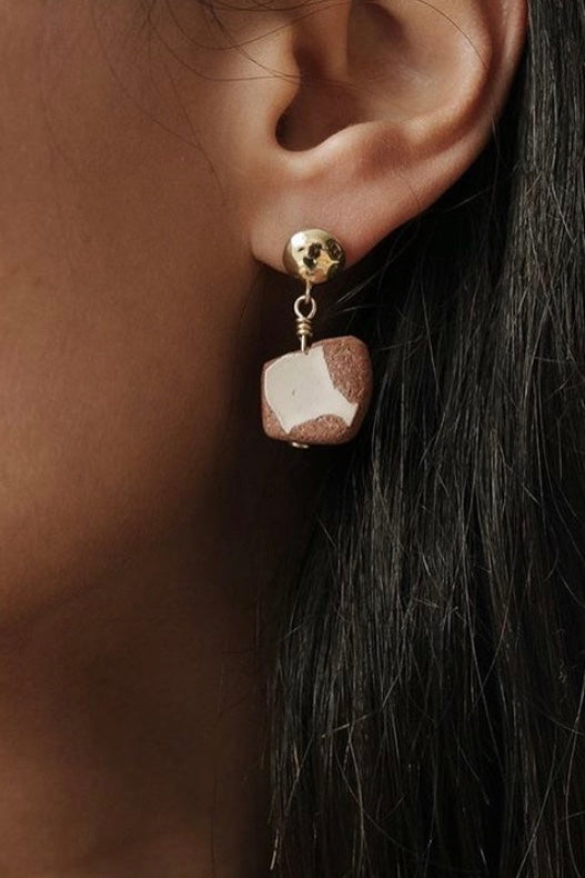 Holly Ryan -Capri Terracotta 9K gold-plated Earrings - Worn For Good