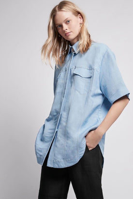 Aje Overture Off Duty Pocket Shirt