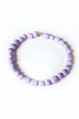 Leaeva - Bead Necklace, Lilac - Worn For Good