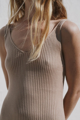 St Agni - Loic Knit Slip Dress, Honey