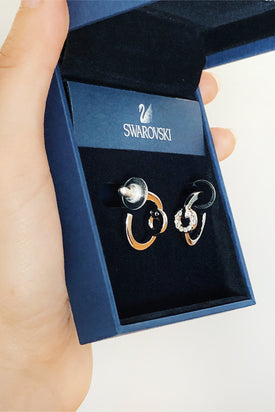 Jaguar Jonze: Swarovski Maskerade hoop earrings