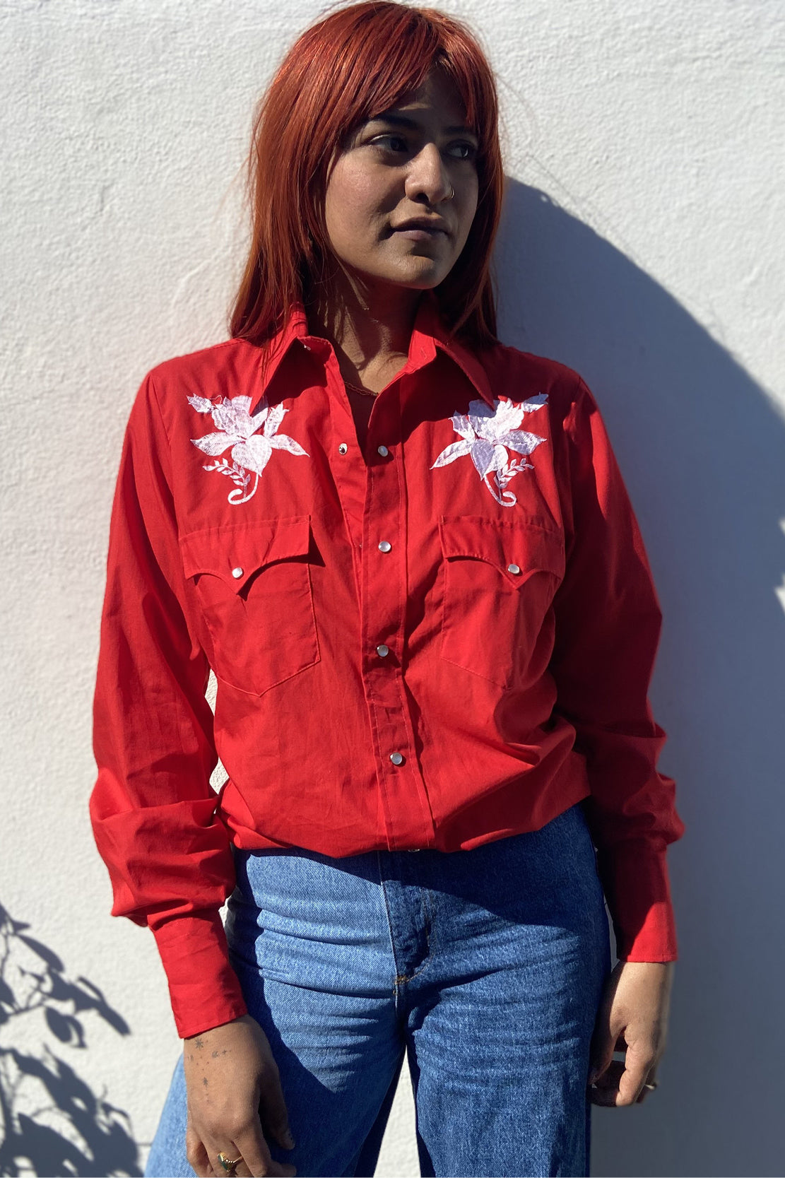 Charlie Collins: Vintage Red Western Shirt