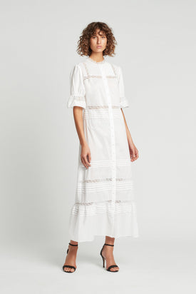 SIR The Label Maci Pleat Maxi Dress