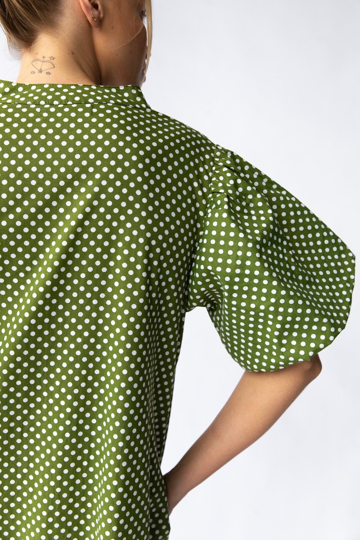 Nice Martin - Walden Dress, Green Polka Dot - Worn For Good