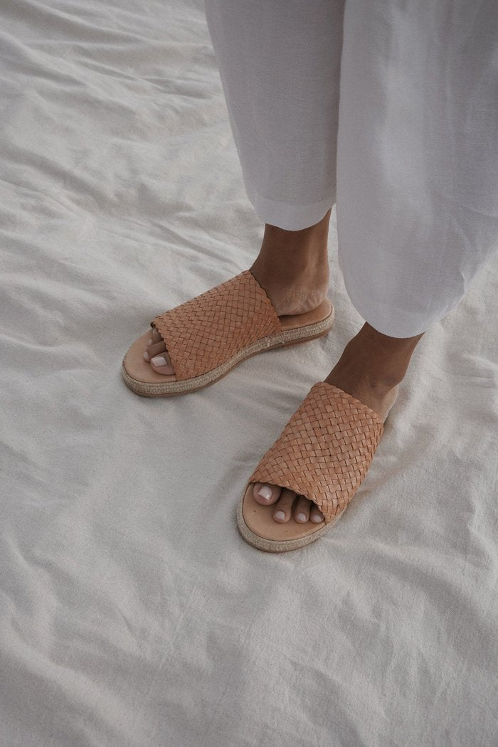 St Agni - Tuscan Woven Espadrille, Nude - Worn For Good