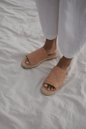 St Agni Tuscan Woven Espardrille - Nude