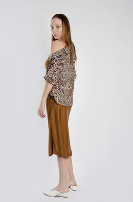 Silk Laundry - Piped Shirt, Leopard - Worn For Good