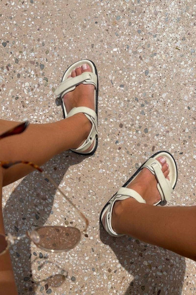 The Bali Tailor - The Marli Sandal, Cream - Worn For Good