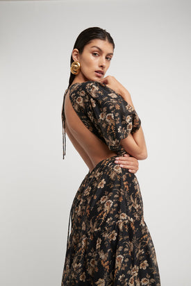 SIR. - Amerie Open Back Dress, Floral