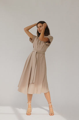 St Agni - Abel Dress, Taupe