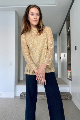 Vintage Gold Long Sleeve Top