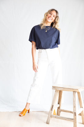 Jac and Jack Navy Cotton shirt