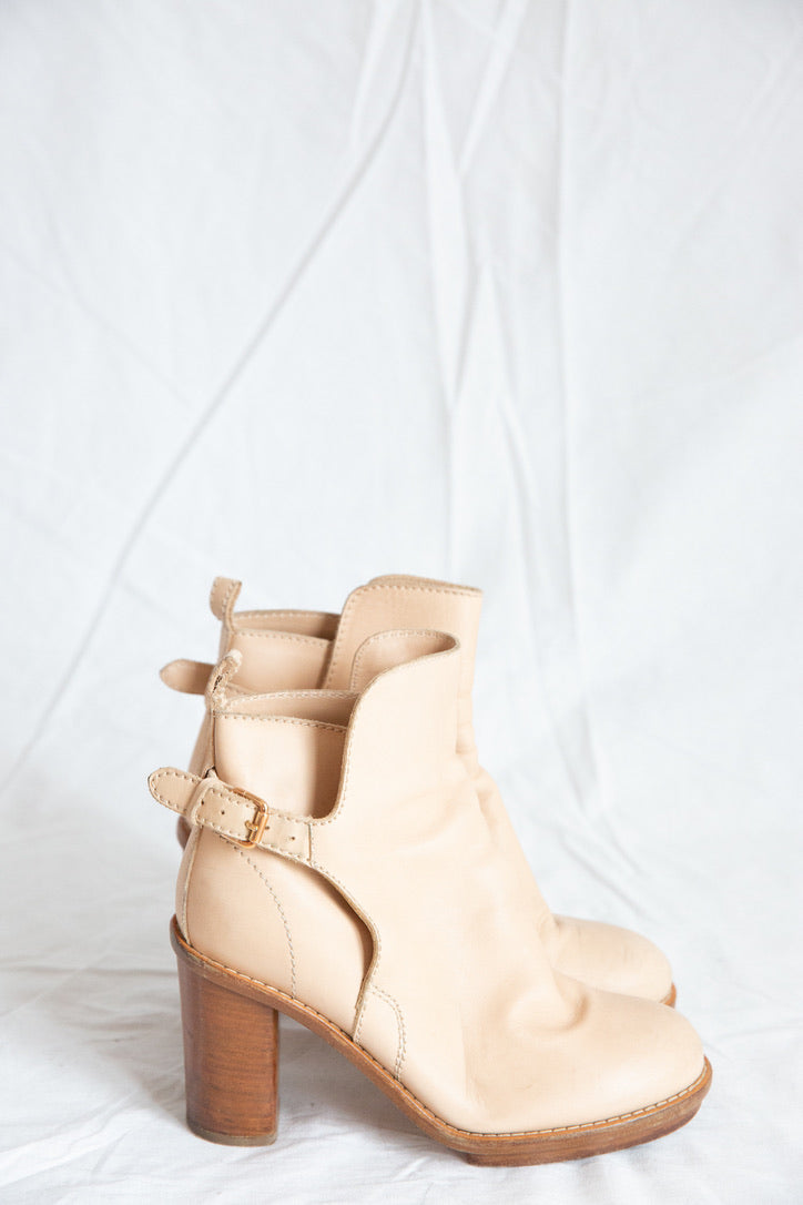Acne Studios Creme Ankle Boots