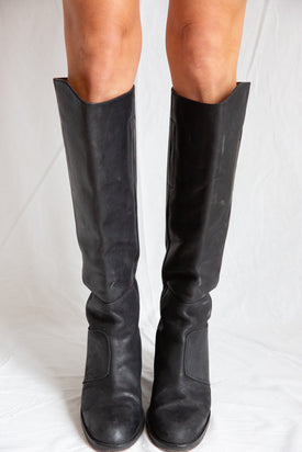 Acne Studios Black Pistol Leather Boots