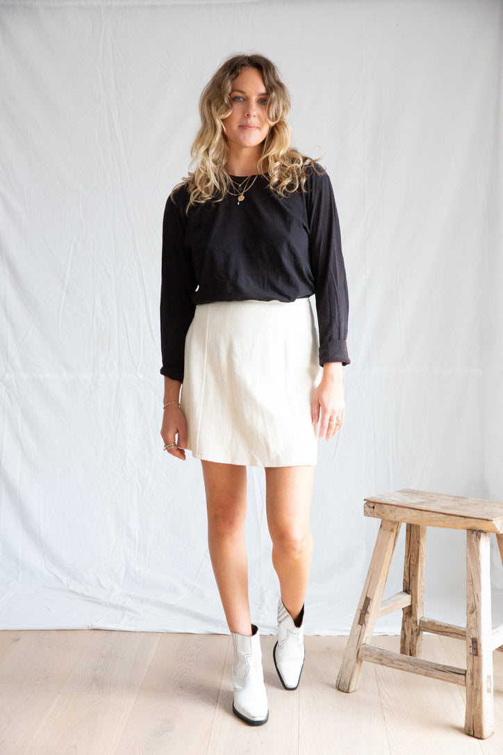 I Dream for You  Cream Flip Skirt