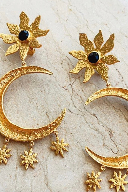 Valere La Luna Earrings - Black Onyx