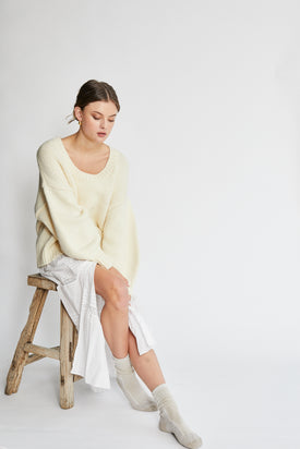 Zulu & Zephyr - Knit Jumper, Creme - Worn For Good
