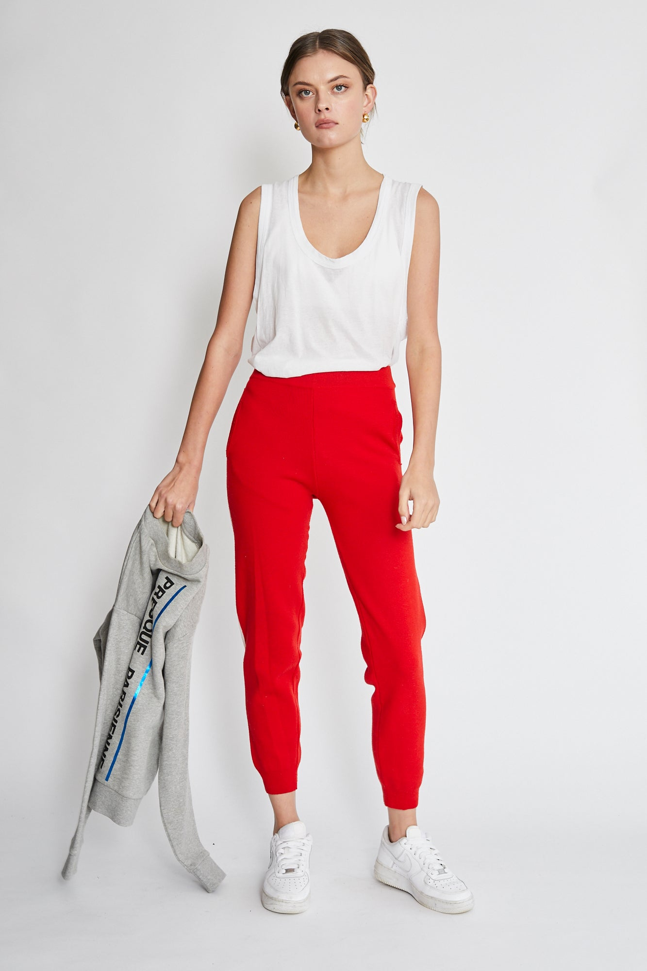 Plys knit trouser