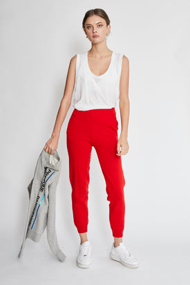 Plys - Knit Trouser, Red - Worn For Good