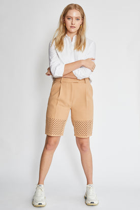 Phillip Lim tailored tan shorts