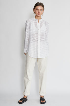 Apiece Apart Augustina Button Up Lace Shirt
