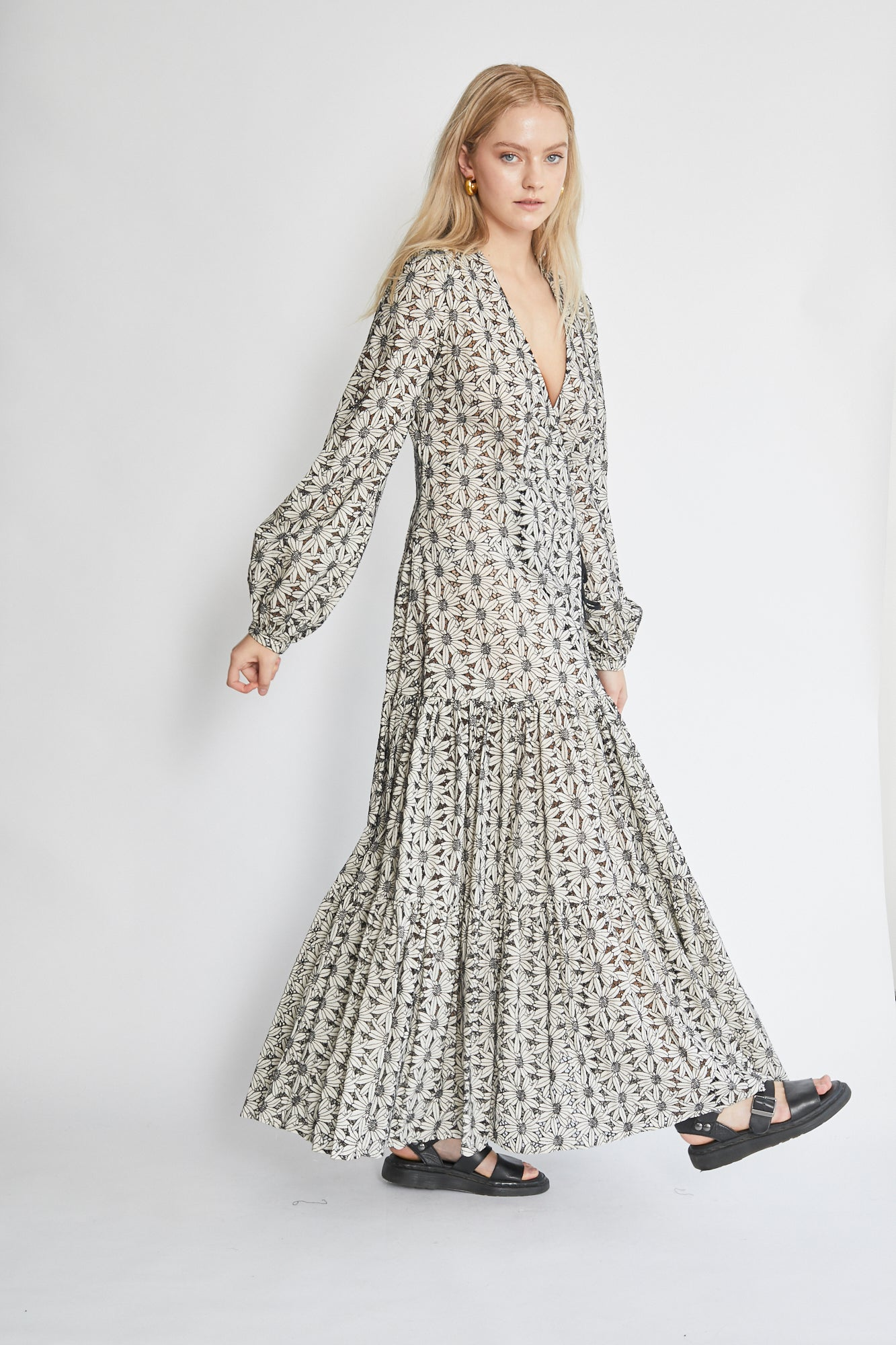 Matin Embroidered Wrap Dress