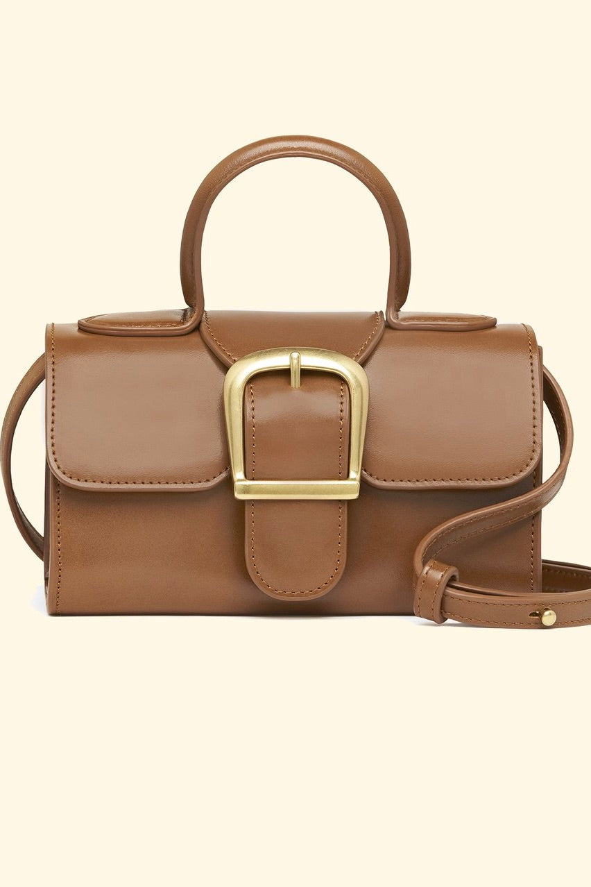 Rylan - Mini Satchel, Cognac - Worn For Good