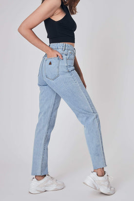 A Brand - High Slim Denim Jean, Light Blue