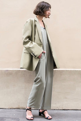 The Frankie Shop Desert Taupe Oversized Boyfriend's Blazer