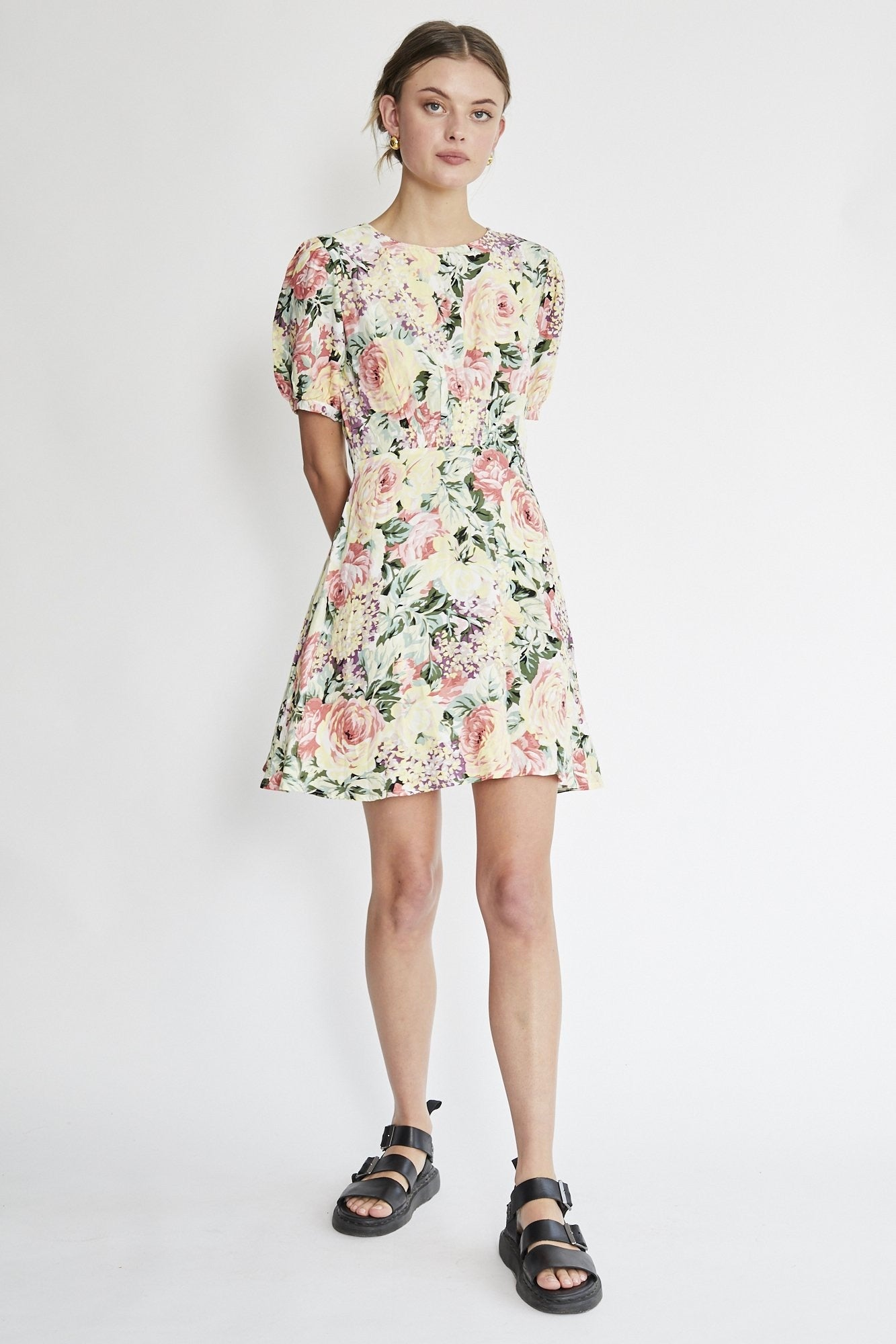 Faithfull The Brand Sidonie Mini Dress - Venissa Floral
