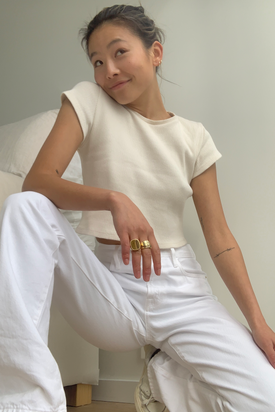 Frame 'Le Hollywood' White Jeans