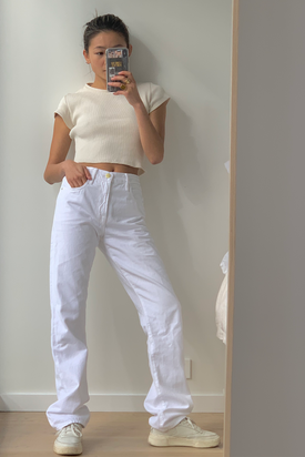 Frame - Le Hollywood Jeans, White - Worn For Good