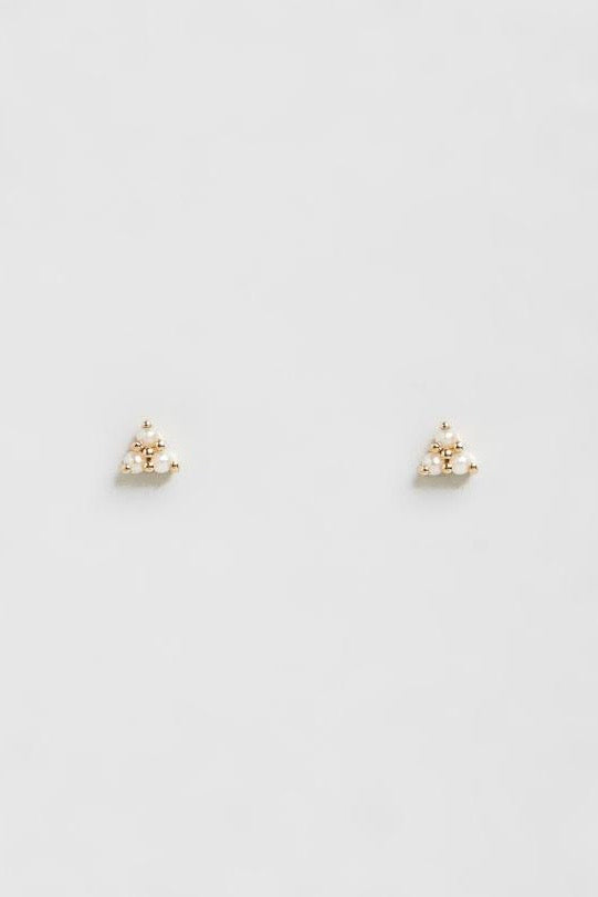 Natalie Marie - Dawn Pearl Studs, 9ct Yellow Gold - Worn For Good