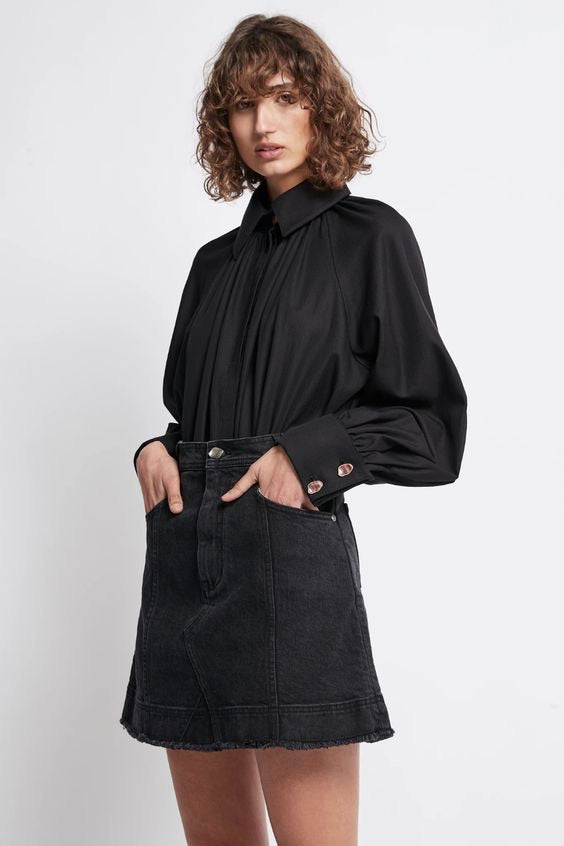 Aje - Liberation Herringbone Smock Shirt