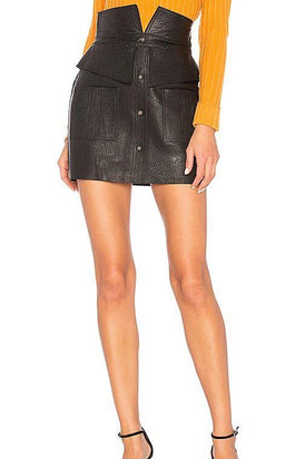 Aje Beaux Leather Mini Skirt
