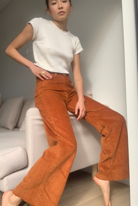 Levi's - Ribcage Wide Leg Cord Pants, Brown - Worn For Good