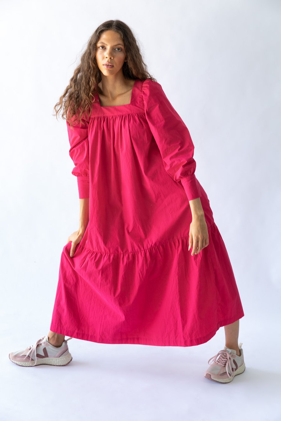 Nice Martin Tao Dress in Tao Dress in Fuchsia Pink
