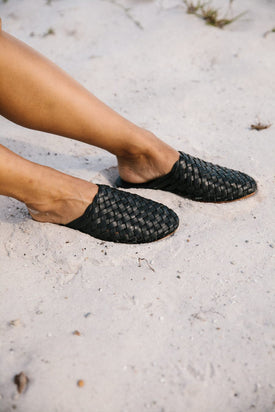 St Agni - Bunto Woven Loafers, Black - Worn For Good