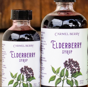 Open image in slideshow, Carmel Berry Co. -- Elderberry & Elderflower Syrup