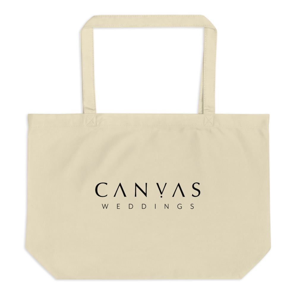 Canvas Weddings large organic tote bag
