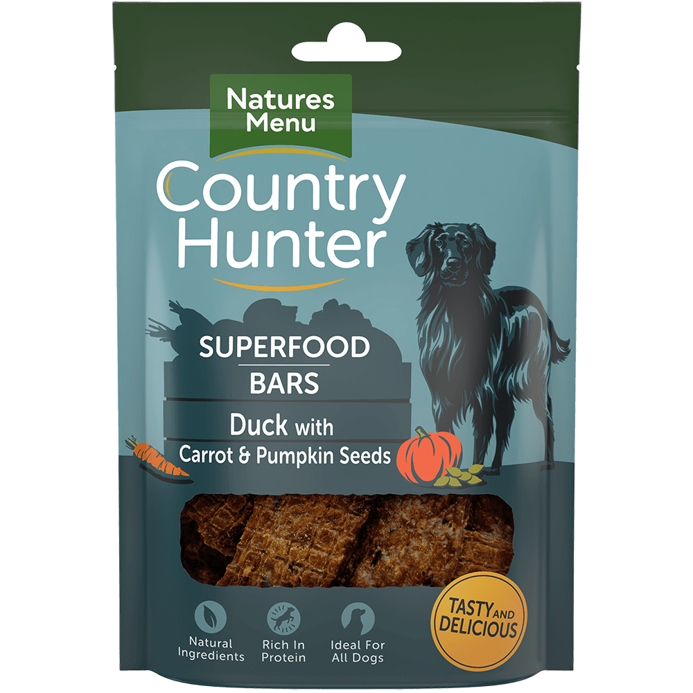 Superfood Bars Duck with Carrot & Pumpkin Seeds